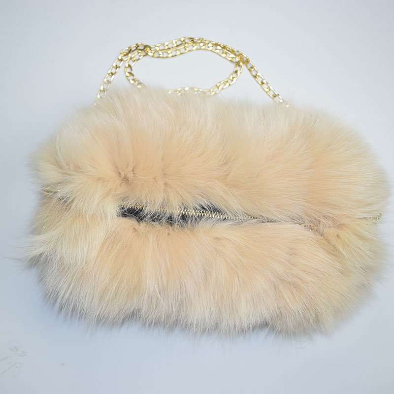 fox fur handmuff beige 11