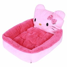 Cute Cartoon Pet Cat Dog Bed Mat Winter Cozy Warm Soft Fleece Cushion Kennel For Small Puppy Dogs Cats Kitty Washable Pet Houses
