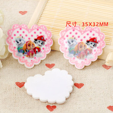 kawaii DIY heart Hollywood Dog mini Figurine crafts holiday garden decoration flat back planar resin hair accessories