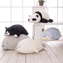 50cm Sea Lion Black Dog Penguin Panda Stuffed Plush Toy Doll Animal Cushion Pillow Girl Gift Cute Good Quality Soft Free Deliver