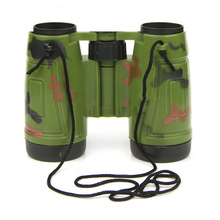 1pcs hot plastic children's toys Camouflage binoculars optical telescopes children outdoor games(China)