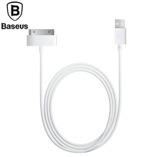 Baseus Original 1.2M 30pin USB data Cable For Apple Data Sync 30pin USB Cable For iPhone 4 4S ipad 1 2 3 itouch4 Charging Cable(China)