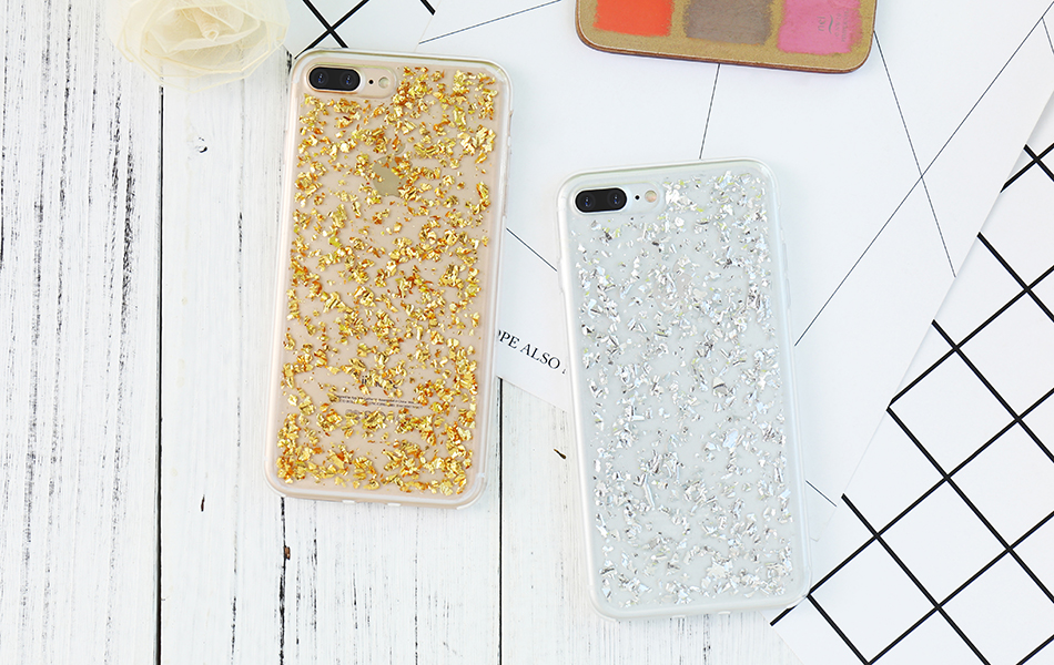 DOEES For iPhone 7 6 6S Plus 5 5S SE Case Luxury Cute Glitter Clear Case For Samsung Galaxy S8 Plus S7 S6 Edge S5 Note 7 5 Back Cover (6)