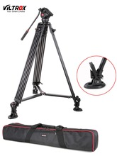 1.8M Viltrox VX-18M Pro Heay Duty Aluminum Video Tripod + Fluid Pan Head + Carry Bag for Camera DV DSLR Very Stable(China)