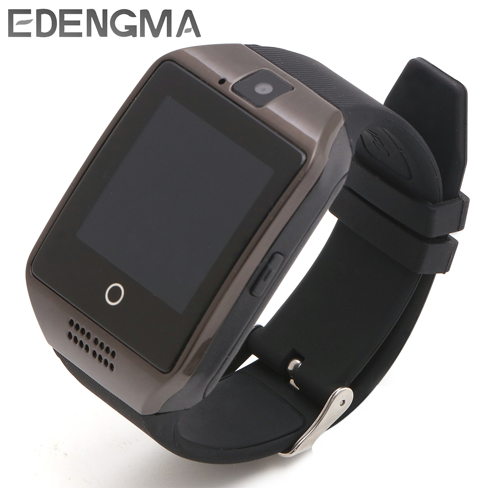 Q18 Bluetooth Smartwatch With Pedometer Facebook Whatsapp Twitter Sync Support SIM&TF Card Android IOS Phone Man Smart Watch