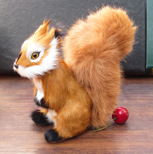 simualtion squirrel large 17x15cm model plastic&amp; furs squirrel toy home decoration Xmas gift w5756<br><br>Aliexpress