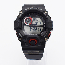 red waterproof wrist digital automatic watches for men digitais watch running mens man digitales clock diving students swimming