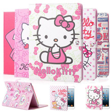 High Quality Super PU Leather Tablet Case For Apple iPad Mini 1 2 3 Hello Kitty Protective Sleeve Stand Cover Wake Up & Sleeping