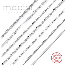 New Elegant Chain .925 Solid Sterling Silver Chain Necklace ON SALE 40 cm 45 cm 2016 Fine Jewelry For Fashion