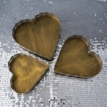 Vintage Golden Heart Shaped Dessert Plate