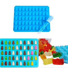 50 Cavities Silicone Bear Designed Chocolate Candy Mold Maker Cookware Kitchen Accessories Cooking Tools Cocina Gadget
