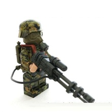 Correspondent soldier City swat police military tactical lepin model weapons accessories lepin mini figures original Block toy