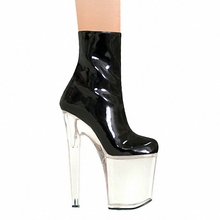 20cm It has high gloss and sexy runway boots, pole dancing shoes, high heels and sexy shoes(China)