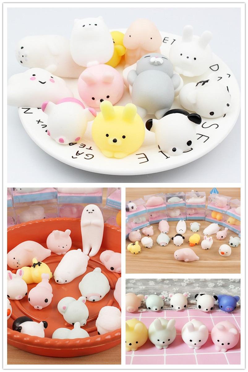 New 16 Pcs Mini Cute Mochi Animals 11