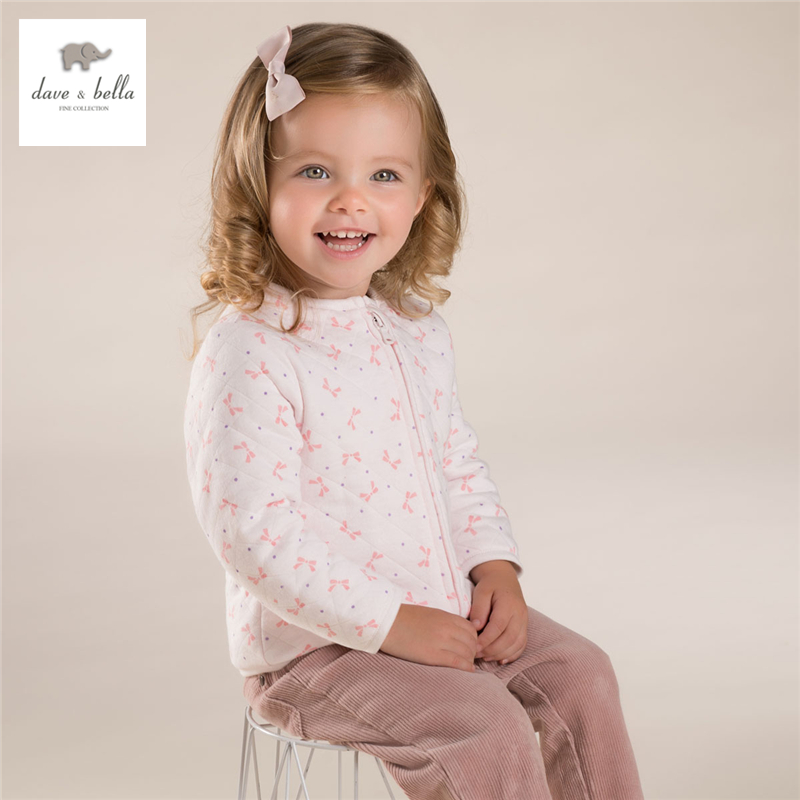 DB4273-G davebella autumn padded top basic jacket chilren coat kids clothes for girl<br>