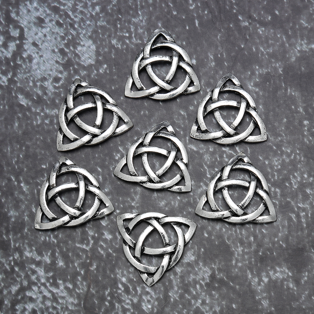 Tibetan Alloy Antique Silver Celtic Chinese Knot Heart Tree