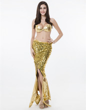 COULHUNT 2017 Women Sequins Gold Mermaid Cosplay Costume Sexy Faux Leather Sea Siren Cosplay Halloween Carnival Fancy Dress