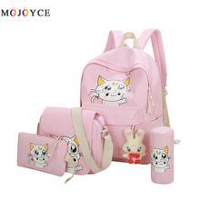 Japanese Cartoon Cat Printing Backpack Moon Backpack Middle High School Bags Teenagers Girls Students Book Bag Sac Dos