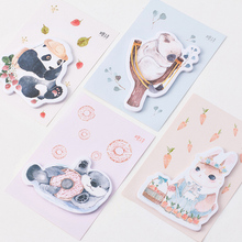 1 X Cute animal panda koala memo pad paper sticky notes post it kawaii stationery papeleria school supplies material escolar(China)