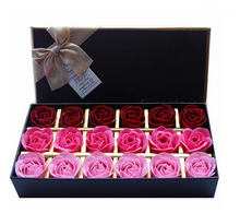 18 pcs/set Creative Romantic Rose Flower Soap Flowers For Valentine's Day Gift