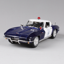 1:18 diecast Car 1965 Corvette Blue Classic Cars 1:18 Alloy Car Metal Vehicle Collectible Models toys For Gift