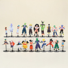 10pcs/set Dragon Ball Z GT Action Figures Crazy Party 10CM Cell/Freeza/Goku PVC Action Figure Collectible Model Gift Toy(China)