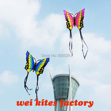 free shipping high quality lovers butterfly 2pcs/lot nylon ripstop fabric with handle line couples flying easy control wei kites