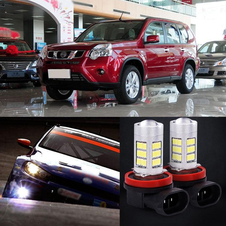 New 2pcs 72 SMD Daytime Running Light Bulbs LED Fog Lamp For Nissan X-Trail 2012-2013<br><br>Aliexpress