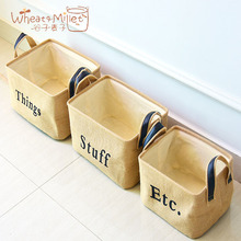 Fashion cotton and linen 3 sets of travel desktop underwear storage box portable bathroom bedroom furniture clothing organizer(China)
