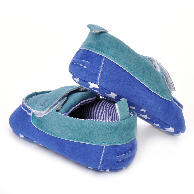 17 Fashion Newborn Baby Girl Boy Shoes Soft Sole Infantil Toddler Baby Boy Sneakers Blue Baby Mocassins Crib Peas Flock Shoes 19