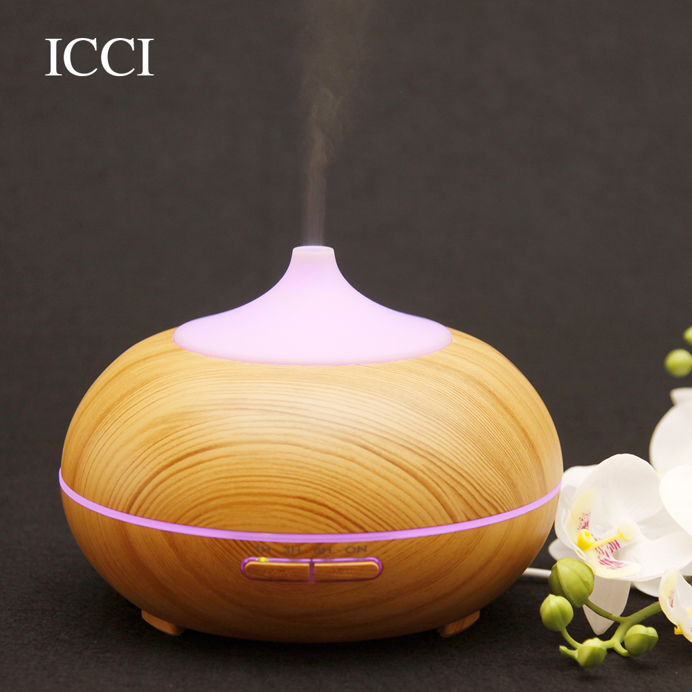 icci Humidifier Essential oil diffuser aroma oil diffuser Aroma diffuser Diffuseur huile essential Aroma Led lamp capacity 300ml<br>