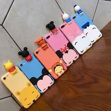 Super 3D Cute Cartoon Mickey Minnie Mouse Donald Duck silicone phone Case For Huawei P9 G9 P10 plus honor 8 P8 lite 2017 cover