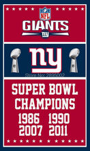 New York Giants Super Bowl Champions Man Cave Sports Banner Basketball Flag 3' x 5' Custom Hockey Baseball Football Flag