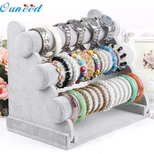 E20 3-Tier Bar Bracelet Watch Table Jewelry Organizer Holder Rack Stand Display jun15