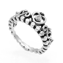 Hardware Fitting Stainless Steel Jewelry Made In China Crown Crystal Ring For Women