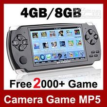 Free Shipping 8GB Video Game Console 4.3 inch MP4 MP5 Players Handheld Game Player free 2000+games ebook/FM/1.3 MP Camera