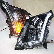 For Cadillac LED Head Lamp SRX LED Strip Head Light with HID Kit 2010-2013 year head lamp  LF