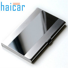 Haicar organizer Storage Box Steel Silver Aluminium Business ID Name Credit Card Box Holder Case Quality First DROP SHIP