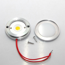 Ultra-thin 7W COB LED Puck Light Small Surface Wall Mounted Furniture Light Under Cabinet Counter Spot Lamp AC110-240V 10pcs