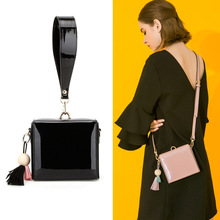 Summer new Patent leather Women's Totes mini Flap bags women handbag tassels Crossbody Bags for Women shoulder bag small bolsa(China)