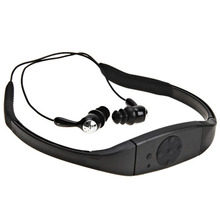 8GB Waterproof MP3 IPX8 Music Player Underwater Sports Neckband Swimming Diving with FM Radio Earphone Stereo Audio Headphone(China)