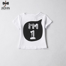New Brand Summer Kids Clothes 1-4 Years Boys Girls T Shirt Tops Tees Children's T-shirts Toddler Baby First Birthday Party Wear(China)