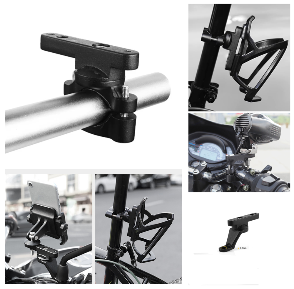Motorcycle bicycle accessories multi-function extension rod bracket for