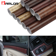 Car-Styling 30*100CM PVC Wood Grain Textured Car Interior Decoration Stickers Waterproof  Room Furniture Door Wall Paper Film