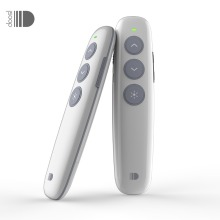 Doosl Wireless Presenter, RF 2.4GHz Rechargeable Powerpoint Remote Control PPT Clicker Presentation Pointer Laser Pen