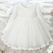 Toddler girl wearing in the summer of 2017 bowknot lace princess dress flower girl dress wedding dress girl dress clothes for th