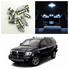 9pcs Canbus Xenon White Car LED Light Bulbs Interior Package Kit For 2000-2009 Dodge Durango Map Dome License Plate Lamp