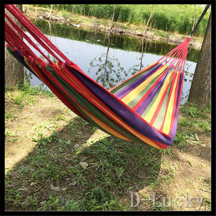 Hot Sale Hammock hamac outdoor double hammocks camping hunting Leisure Products super big size hamaca 2 colors free shipping<br><br>Aliexpress
