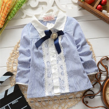 Free shipping Spring and Autumn New children denim blouses,baby girls shirts,children blouses#Z562(China)