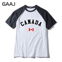 Canada Flag Man & Women Unisex T-Shirt Mens Streetwear Print Letter North American Fashion T Shirt Men Hit Color Collar Short